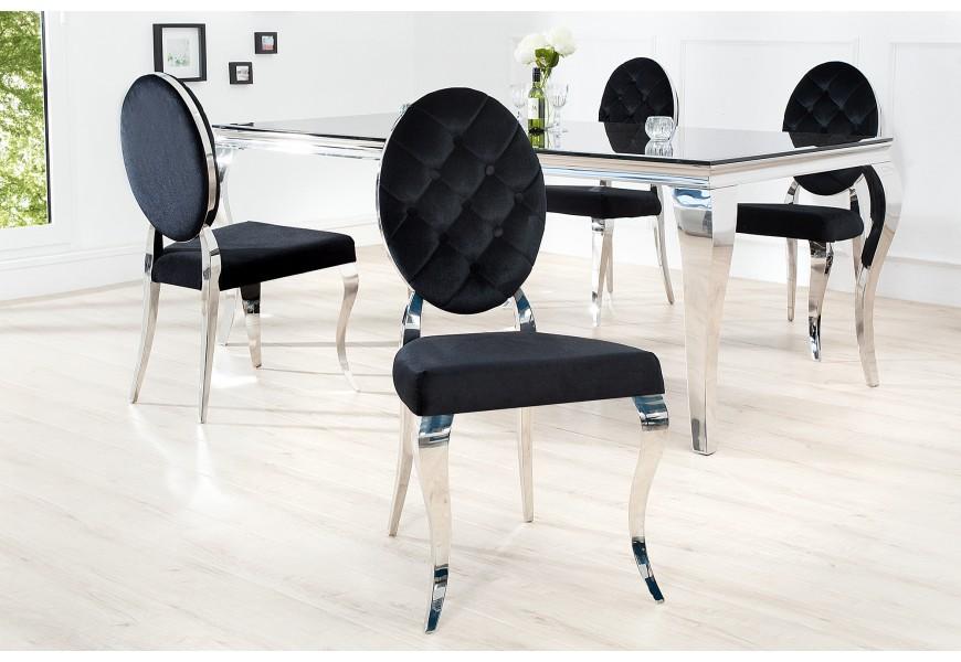 Luxusná jedálenská stolička Modern Barock II čierna