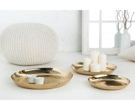 Set dizajnových dekoratívnych zlatých misiek Orient