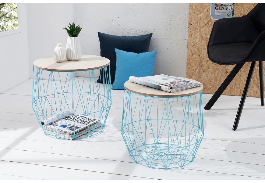 Set moderných príručných stolíkov Storage blue