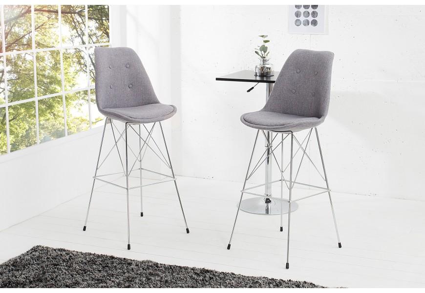 Dizajnová barová stolička Scandinavia Retro sivá
