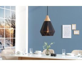 Dizajnová závesná lampa Scandinavia čierna