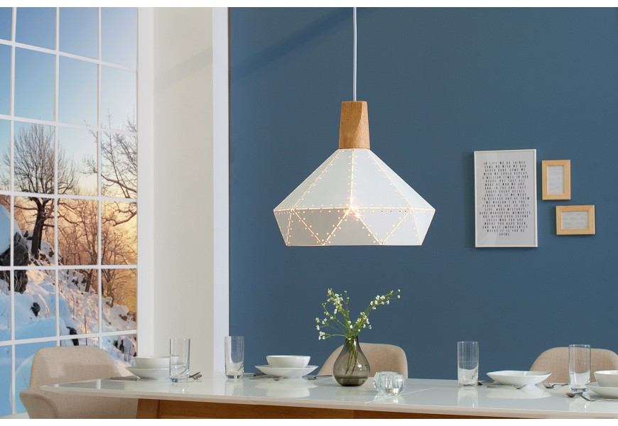 Dizajnová závesná lampa Scandinavia II biela