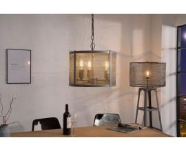 Dizajnová závesná lampa Loft 40cm šedá
