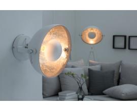 Dizajnová nástenná lampa Studio biela/strieborná