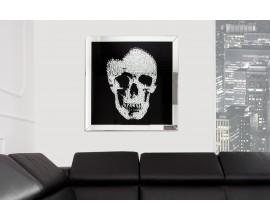 Štýlový zrkadlový obraz Lebka 80x80cm