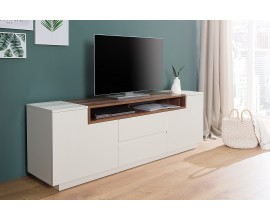 Dizajnový TV stolík Kingdom 180cm biely/orech