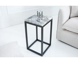 Dizajnový odkladací stolík Onyx čierny