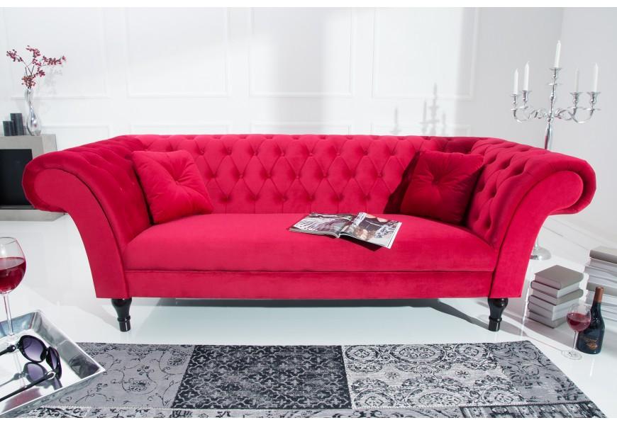 Luxusná sedačka CONTESSA 225cm červená