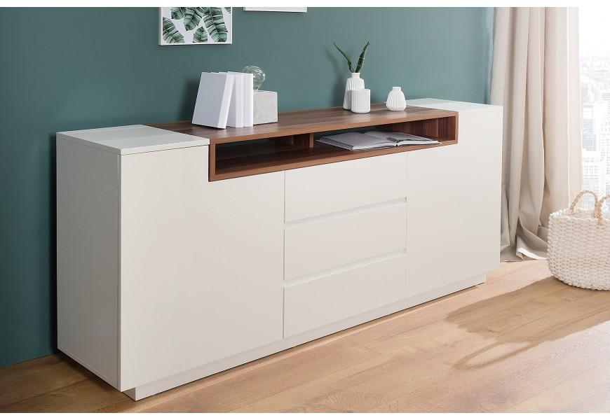 Dizajnový príborník Kingdom 180cm biely