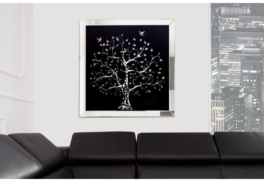 Štýlový zrkadlový obraz Strom 80x80