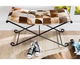 Luxusná kožená lavica RODEO 90cm