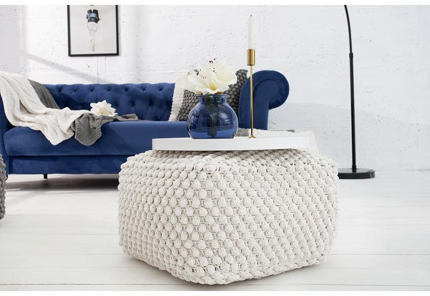Dizajnový Cosy Pouf 55cm biely