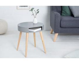 Štýlový retro príručný stolík Scandinacia sivá