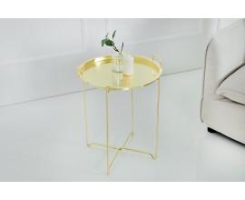 Dizajnový príručný stolík Marrakesh zlato