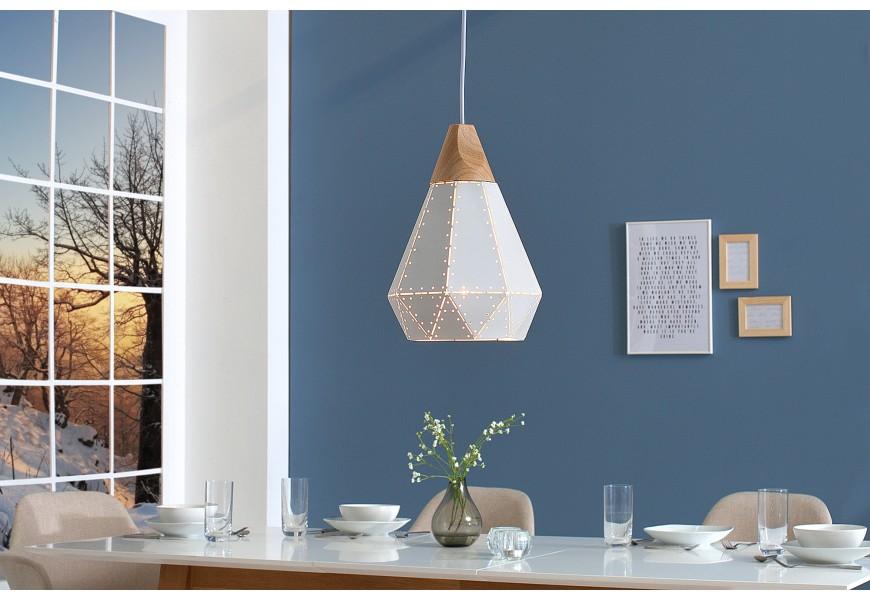 Dizajnová závesná lampa Scandinavia biela