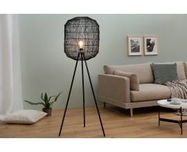 Dizajnová stojaca lampa Cage čierna