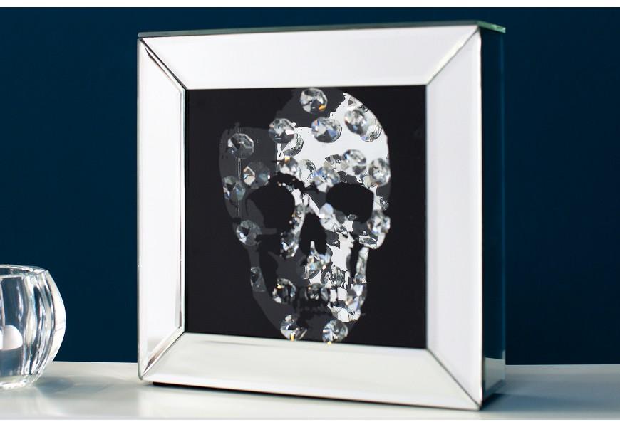 Štýlový zrkadlový obrázok Lebka 20x20