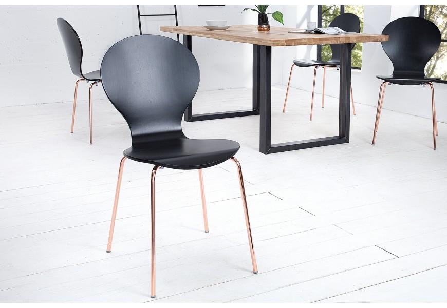 Moderná stolička Form čierna/meď