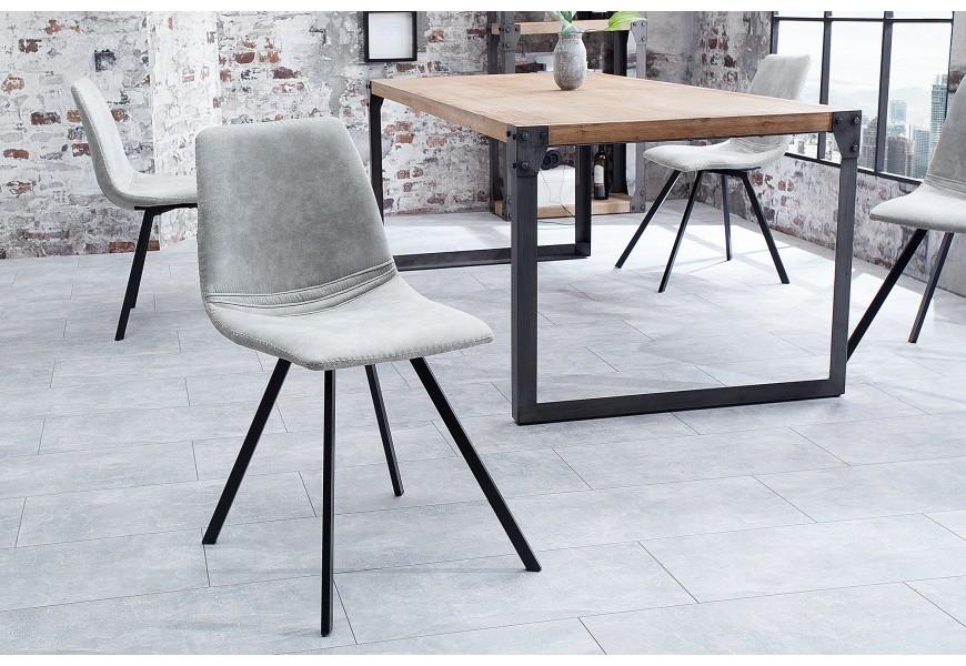 Dizajnová stolička Amsterdam Retro sivá