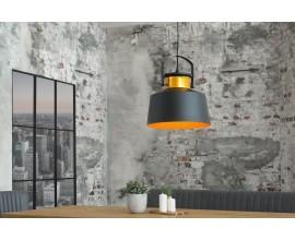 Štýlové industriálne svietidlo LUZ čierno/zlaté