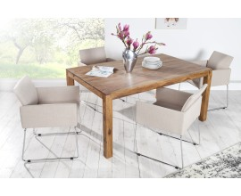 Elegantná dizajnová stolička Bari béžová
