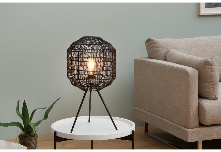 Dizajnová stolná lampa Cage čierna