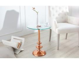 Luxusný odkladací stolík 45cm medený