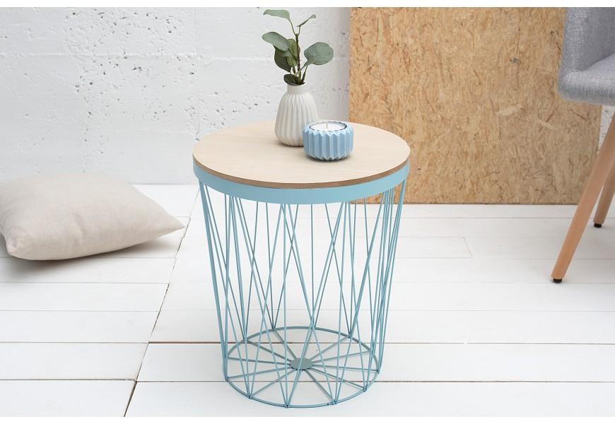 Štýlový príručný stolík Storage II modrý