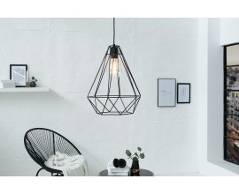 Dizajnová závesná lampa Cage L čierna