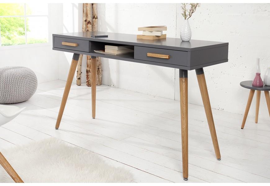 Dizajnový retro písací stôl Scandinavia sivá