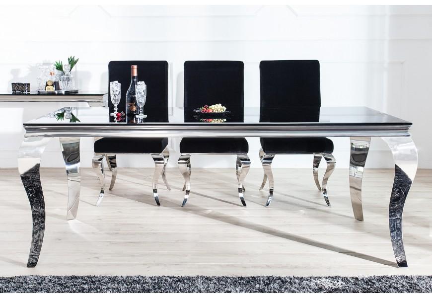 Luxusný jedálenský stôl Modern Barock 200cm čierny