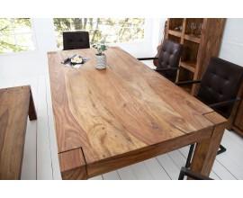 Luxusný jedálenský stôl Makassar natur z masívu 160cm