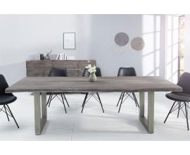 Velký jedálenský stôl z masívu Mammut 240cm sivá