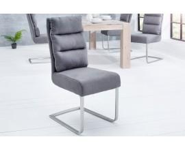 Štýlová jedálenská stolička Comfort Vintage sivá
