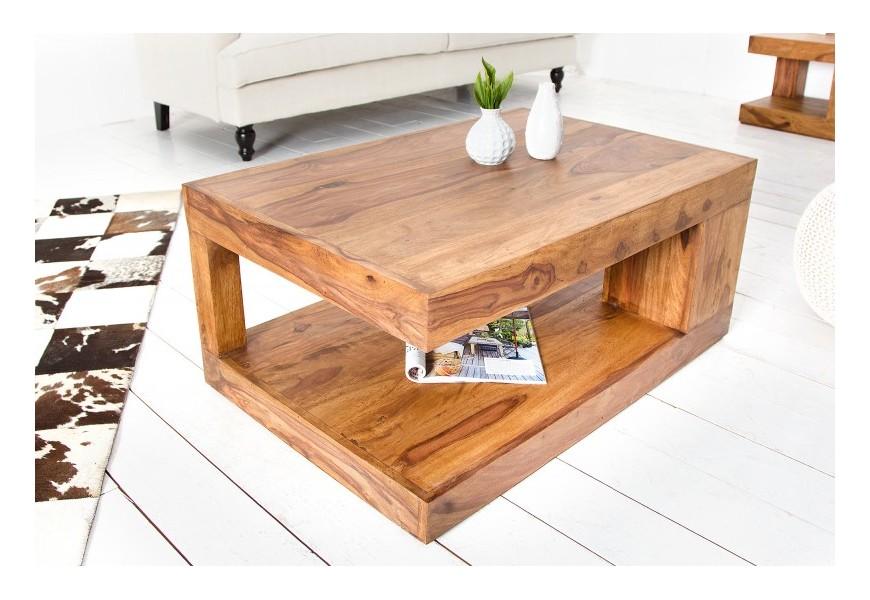Luxusný konferenčný stolík z masívneho dreva Sheesham