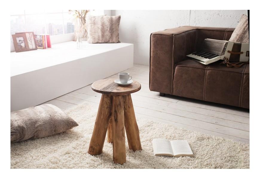 Dizajnová taburetka Hemingway z recyklovaného teakového dreva