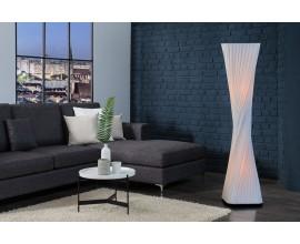 Moderná dizajnová stojaca lampa Harmony 120cm biela