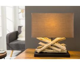 Dizajnová jedinečná stolná lampa Life hnedá
