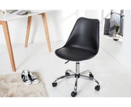 Dizajnová kancelárska stolička Scandinavia II čierna