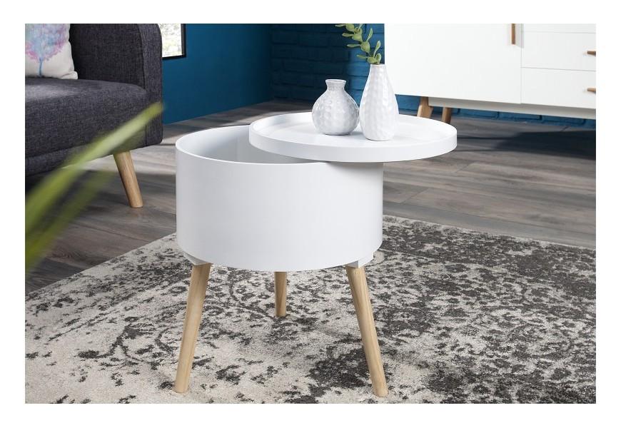 Dizajnový príručný stolík Multi Talent 45cm biely