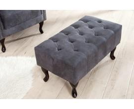 Luxusná taburetka Chesterfield Antik Look šedá