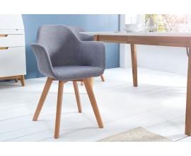 Dizajnová retro stolička Copenhagen šedá