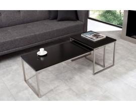 Dizajnový set moderných stolíkov Nobile čierny