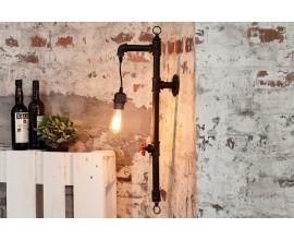 Dizajnová industriálna lampa Hot Pipe I čierna