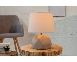 Dizajnová stolná lampa Cement II