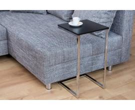 Štýlový príručný stolík Simply čierno-strieborný