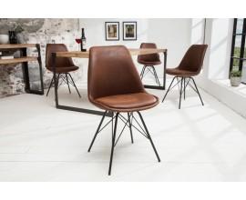 Dizajnová stolička Scandinavia Retro antická hnedá