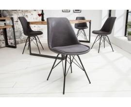 Dizajnová stolička Scandinavia Retro antická šedá