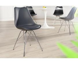 Dizajnová stolička Scandinavia Retro šedá
