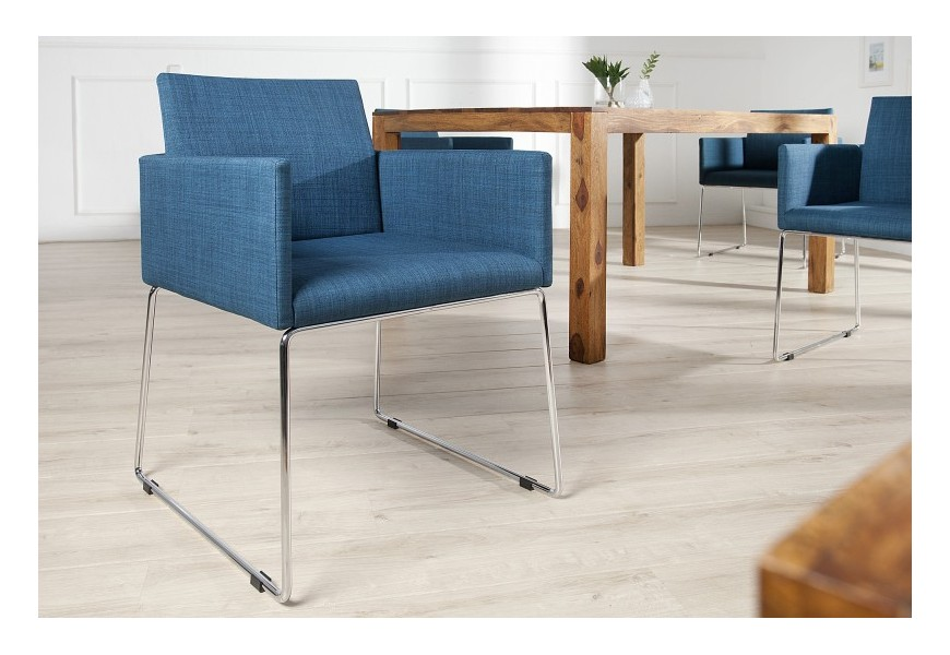 Dizajnová moderná stolička Bari modrá